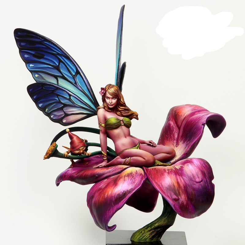 1/24 Scale Fairy 75MM Unpainted Resin Model Kit Figure Free Shipping