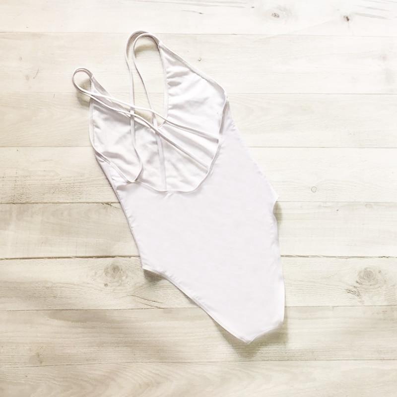 BRIDE SQUAD TEAM Letter Printing One Piece Swimsuit Back Cross High Cut Women Swimwear Red Black Monokini Beach Wear mayo Blue (3)