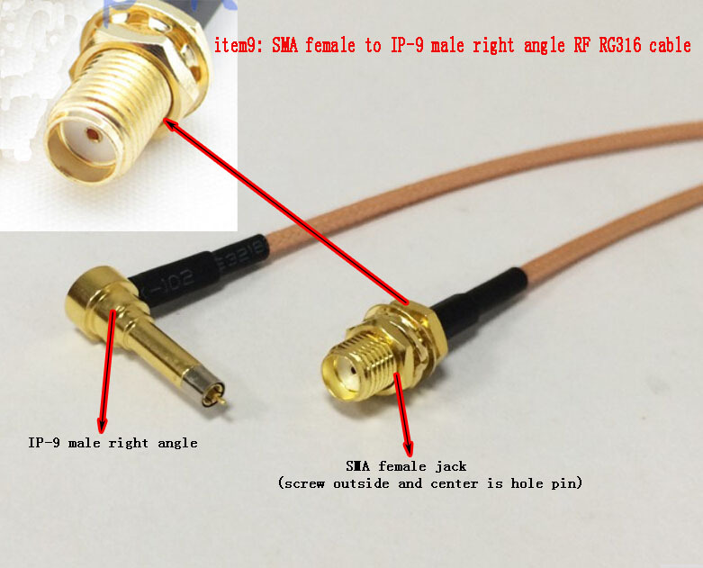 Wholesale Fast Ship 50CM 20 Adapter SMA Female Jack Connector Switch MS156 IP-9 Right Angle Convertor RF RG316 coaxial cable new sma male plug right angle connector switch fakra female convertor rg316 wholesale fast ship 15cm 6 adapter
