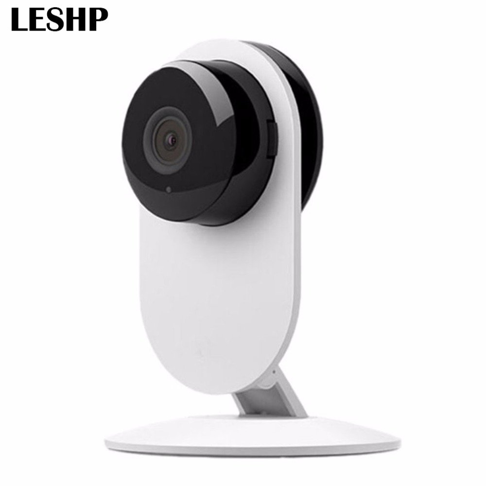 LESHP Smart WIFI IP Camera 720P VR HD H.264 180 Degree View Angle 1.44mm Lens 1MP Panoramic Camera Home Security Baby Monitor