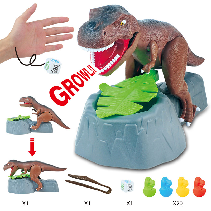 Dinosaur Toy Electric Biting Hand Tweezing Model With Sound Arms Moving ChildrenTricky Toy Table Games