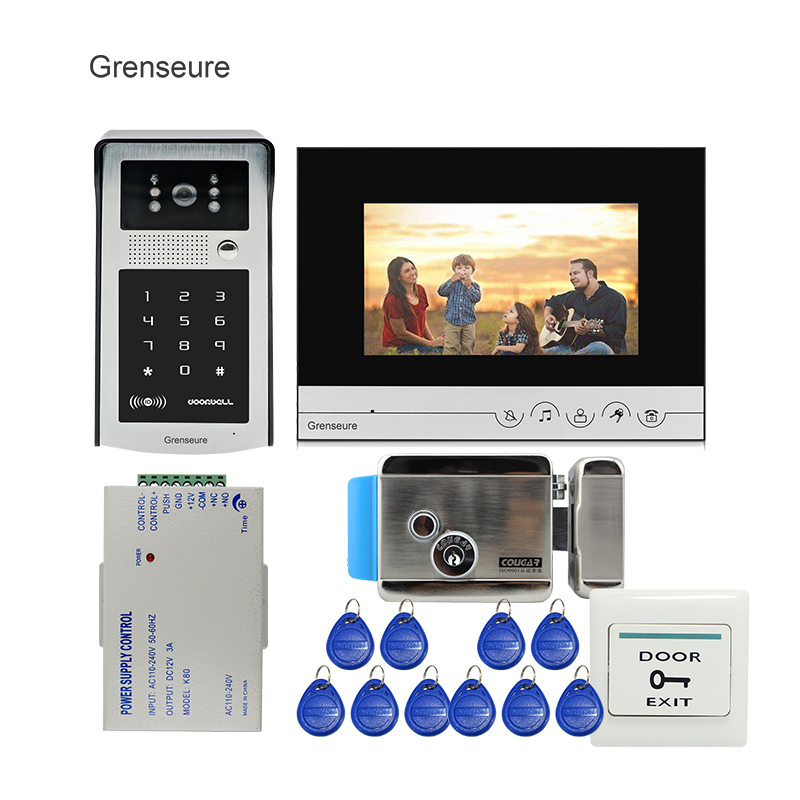 Free Shipping 7 Apartments Poe 720p Ip Wifi 7 Touch Screen Record Video Intercom Door Phone Code Keypad Rfid Outdoor Camera Reliable Performance Back To Search Resultssecurity & Protection