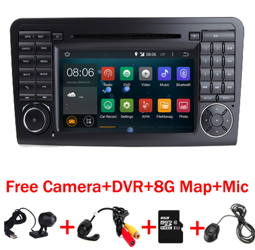 HD 1024X600 Android 7.1 Car DVD Player For <font><b>Mercedes</b></font>-Benz GL <font><b>ML</b></font> Class W164 ML300 ML320 ML350 ML450 ML500 Quad Core Radio GPS image