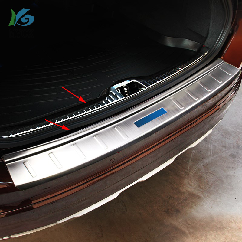 Stainless steel Rear Bumper Protector Sill Plate for Volvo 2015-2017 XC-60 XC60