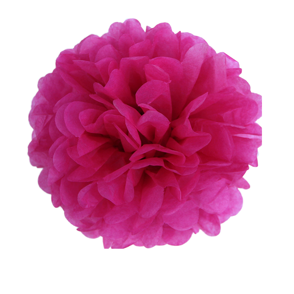 27pcs Sweet Pink Pom Pom Wedding Decorations Tissue Paper Pom Poms Hanging Flowers Party Decorations Kid Birthday Baby Shower in Party DIY Decorations from Home Garden