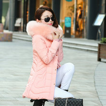 Thick women jacket Luxury Fur collar winter jacket women parka long down coat winter coat women with hooded /big Pocket wt0095