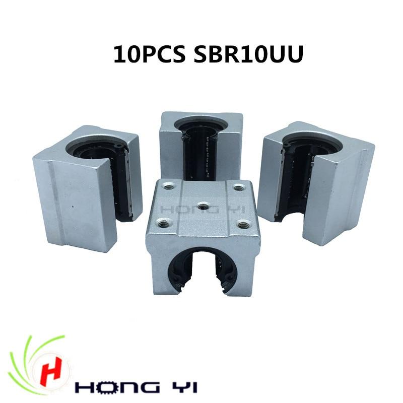 10 pcs / SBR10UU Linear slide block for SBR10 Linear guide 1pc sbr10 l300mm linear guide 2pcs sbr10 linear bearing block
