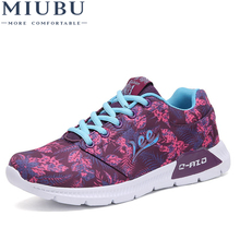 MIUBU 2019 Spring Summer Breathable And Comfortable Mesh Shoes Flat Casual Woman Spell Color Women Sneakers