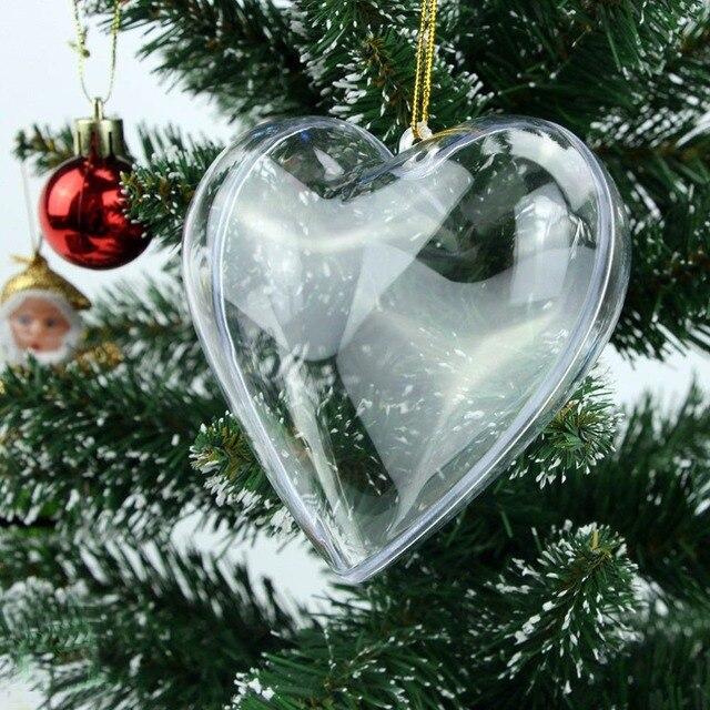 20pcs clear plastic acrylic heart shape fillable christmas. Black Bedroom Furniture Sets. Home Design Ideas