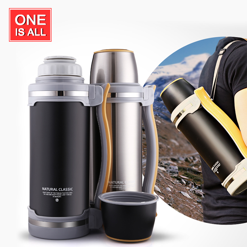 2L Thermos Kettle Stainless Steel Travel kettle With Handle insulated Thermo Mug Thermal Water bottle For Car Vacuum Flask Cup