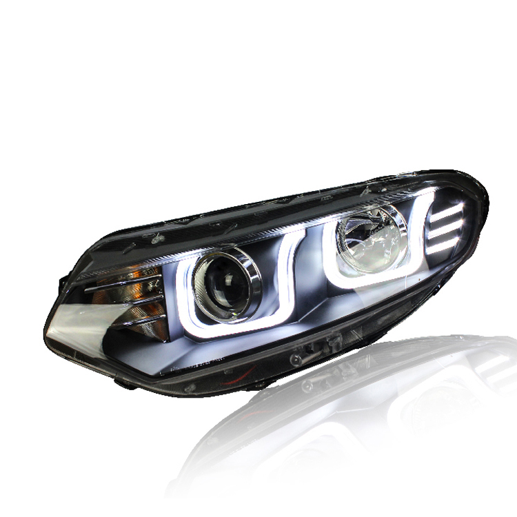 Ownsun New Eagle Eyes LED DRL Bi-xenon Projector Lens Headlights For Ford Ecosport 2013 ownsun new style tear drop led projector lens headlight for new ford focus 2012 2013