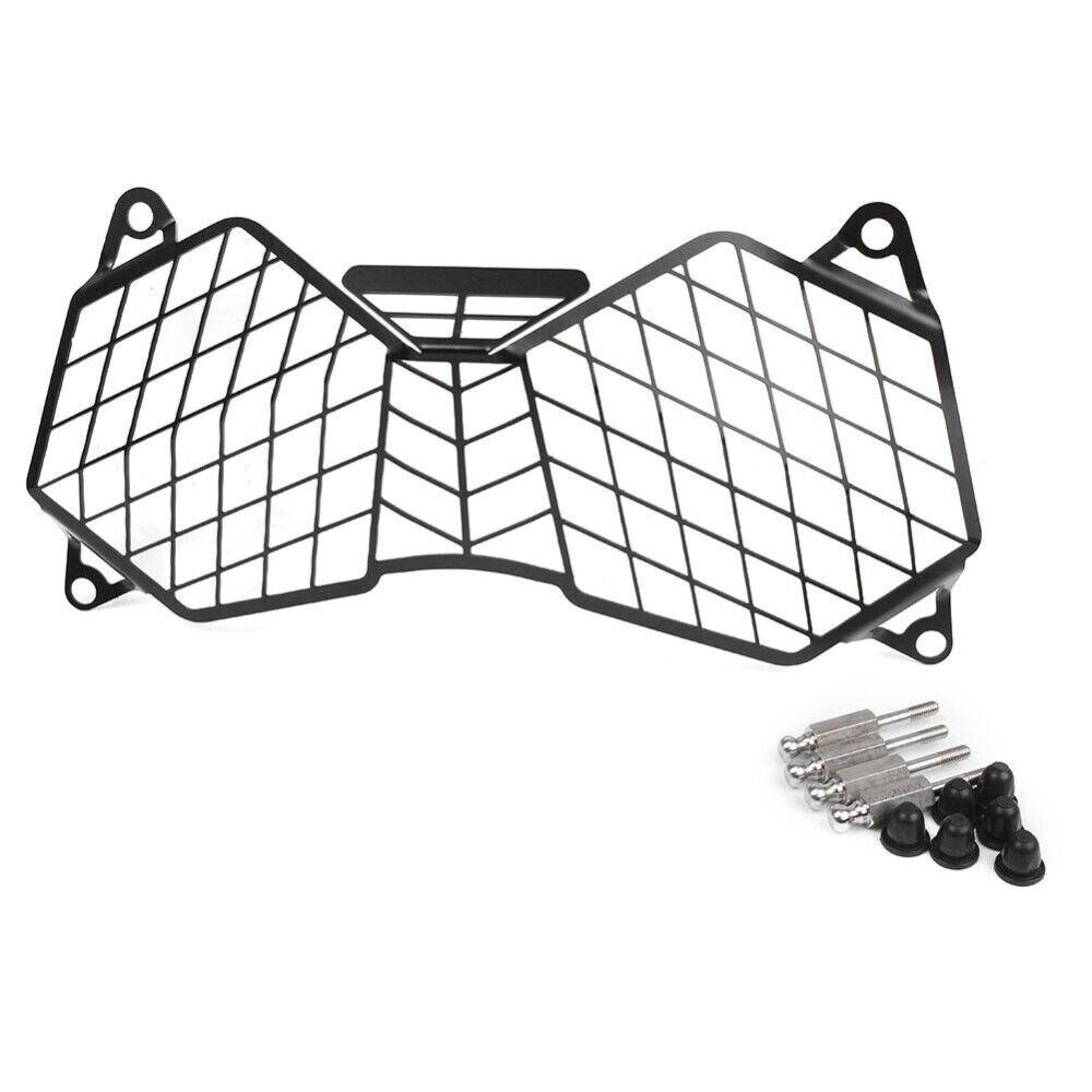 Black Headlight Cover Protector For Triumph TIGER 1200XC EXPLORER 12-17 Durable