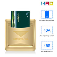 hotel motel rent house guest room wall reader switch 40A gold energy saving saver insert any card to take power 125KHz/13.56MHz