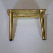2 cái/lốc Vàng Thép Không Gỉ Tủ Chân 19 cm Tủ TV Chủ Chân Đồ Nội Thất Tủ Chân
