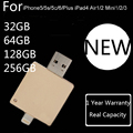 1 año de garantía + capacidad real para iphone 6 s/6/5/ipad/ipod, 32 GB 64 GB 128 GB 256 GB OTG Unidad Flash USB Pendrive Tarjeta de Memoria Flash