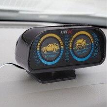 Nivel inclinómetro Brújula Instrumento de Ondas Del Compás Vehículo Accesorios Herramienta de Inclinación Con Luces