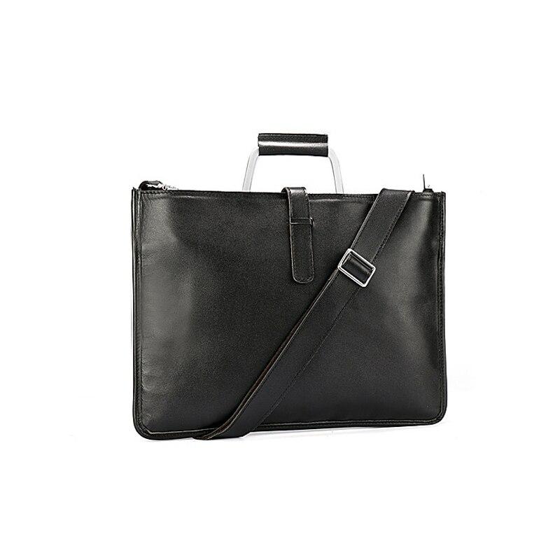 Genuine Leather High Capacity Document Bag For Documents Black Color File Folder With Handle Joy Corner