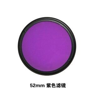 Image 5 - Anel adaptador de filtro de lente vermelha, 52mm uv cpl nd2 nd8 estrela 8 amarelo fld roxo anel adaptador para gopro hero acessórios para câmera gopro5 5 go pro