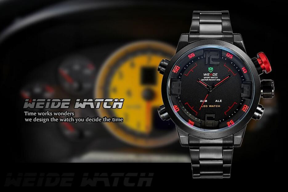 Weide 2309 Men Military Sport Watch Stainless Steel