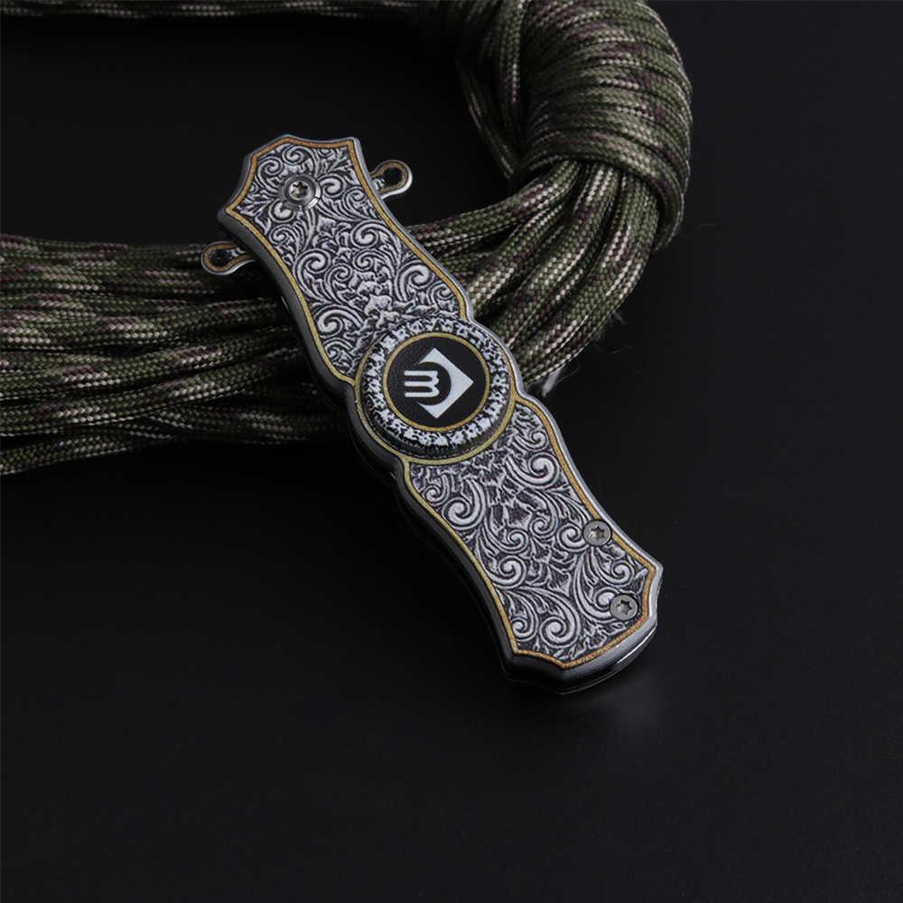 ポケット折りたたみナイフ56hrc多色マルチツールキャンプ戦術サバイバルナイフメタリックアルミ救助狩猟ナイフギフト