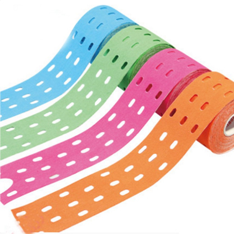 adhesive plaster elastic bandage teip sports taping kinesiology tape sports tape sticky sports 5cm x 5m