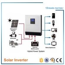 FREE SHIPPING Hybrid off grid solar inverter 3kva 2400w DC24v TO AC 220v/230v charger