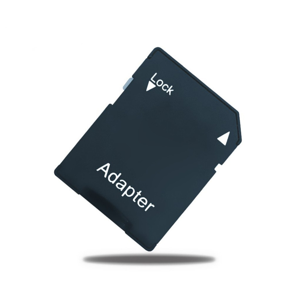 10Pcs/lot TF Memory Card To Micro SD Card Adapter Transfer Converter Black Color Plastic Microsd Mini TF Card Reader Adapter