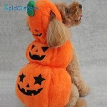 Хэллоуин Тыква преображающая Одежда для собак и щенков кофта с капюшоном для котенка милый костюм куртка для собаки кошки вечерние платья для косплея