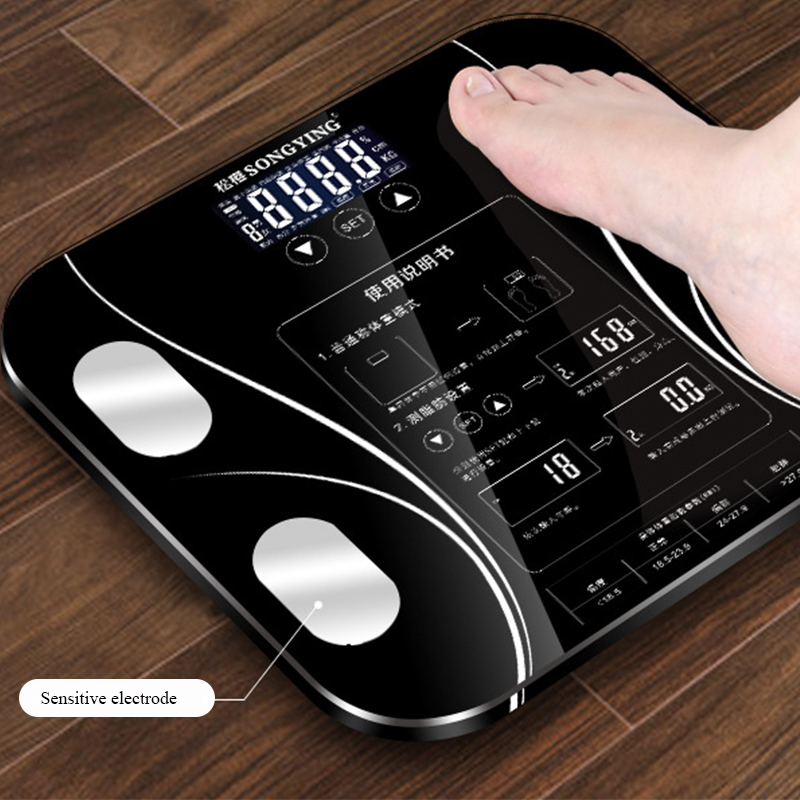 Fat scale LED display body fat weighing electronic weight scale body composition analysis health scale smart bathroom balance(China)