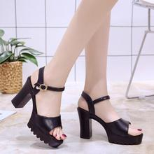2e36857dcf052 mokingtop Sandals Women Fish Mouth Platform High Heels Wedge Sandals Buckle  Slope Sandals sandals summer