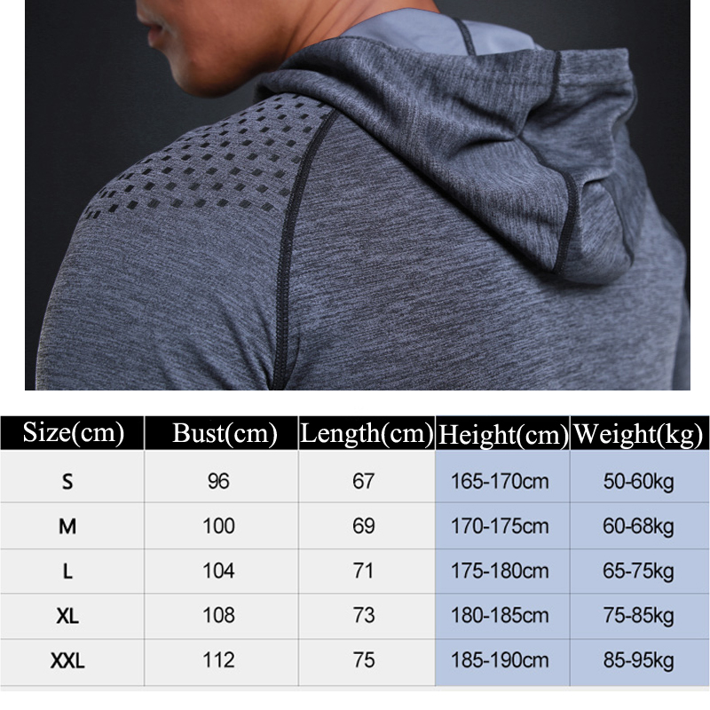 Image 5 - Running T shirt Men Long Sleeve Hooded Rashgard Thin Gym Shirts Fitness Training T shirt Quick Dry Breathable Sports Clothing-in Running T-Shirts from Sports & Entertainment on AliExpress