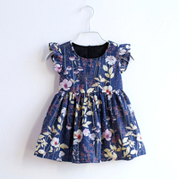 Summer children cotton holiday beach dress family look sister matching outfit mommy and kids girl mother daughter flower dresses