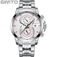 GIMTO Creative Mens Watches Top Brand Luxury Sport Watch Men Steel Waterproof Quartz Wrist Watch Multifunction