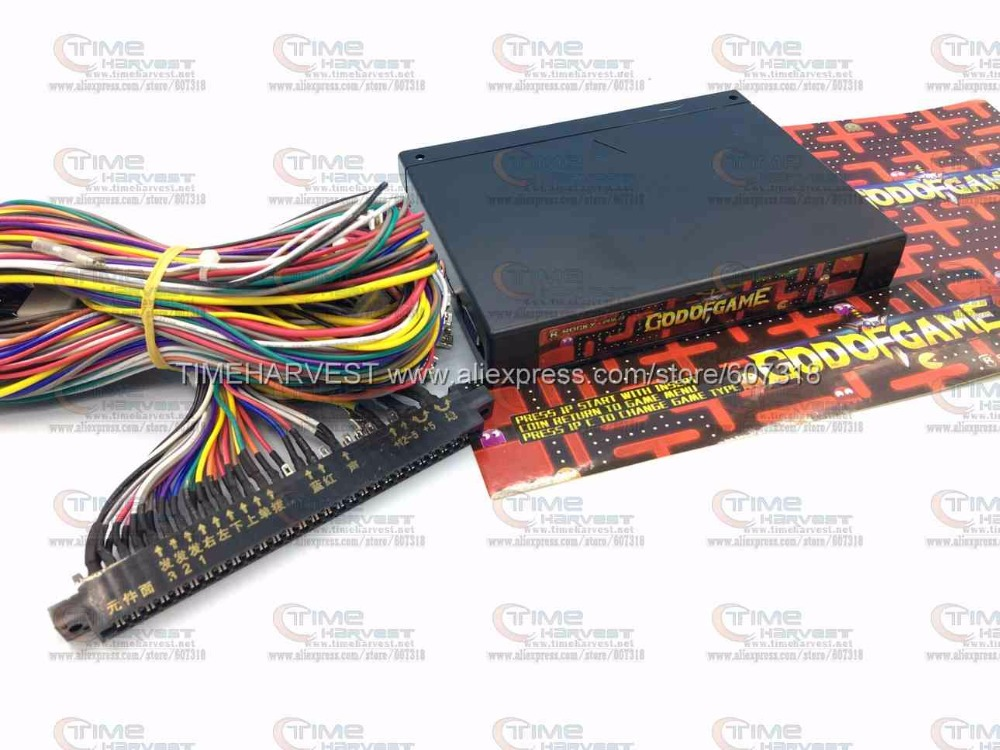 New Arrival JAMMA arcade game board GOD OF GAMES 900 in 1 with Jamma harness arcade multigame PCB multi games support VGA output replace upper board of 2019 in 1 game board upper jamma board for 2019 game family multi games board 2019 in 1 pcb spare parts