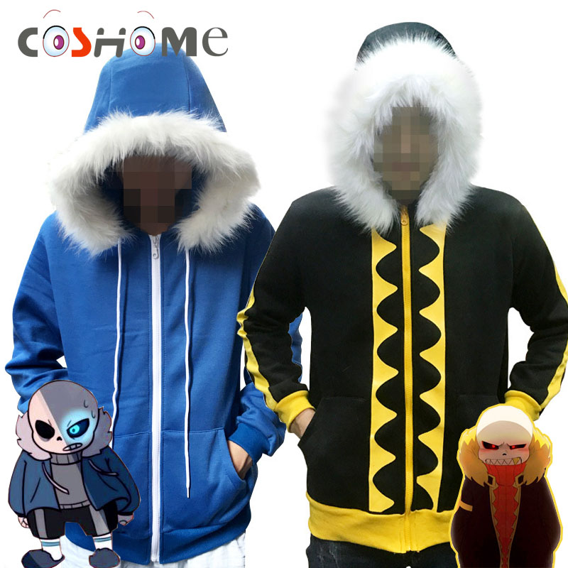 Coshome Undertale Sans Hoodies Cosplay Costumes Men Women Winter Jacket Blue Coat Tops For Halloween P