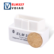 New Version V1.5 Super MINI ELM 327 Bluetooth White OBD2 / OBDII ELM327 Auto Code Scanner in stock
