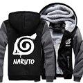 2017 homens treino Uzimaki Naruto Anime jaquetas novo hop harajuku zipper hoodies outono inverno ocasional de lã grossa camisola