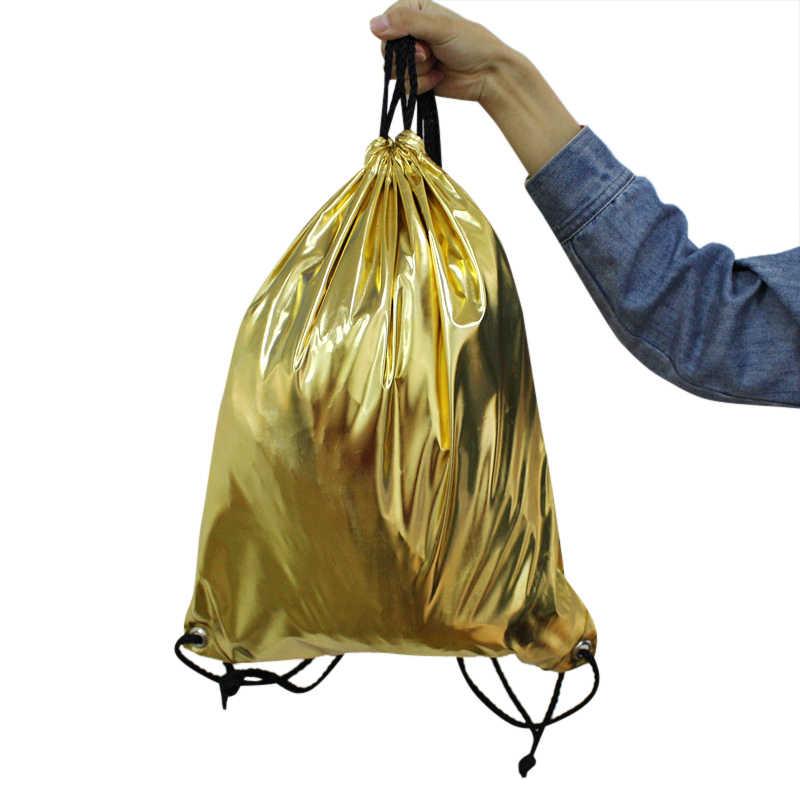XZJJA Женский Мужской рюкзак на шнурке спортивная сумка для спортзала рюкзак дорожная обувь органайзер для одежды Сумка водонепроницаемая пляжная сумка