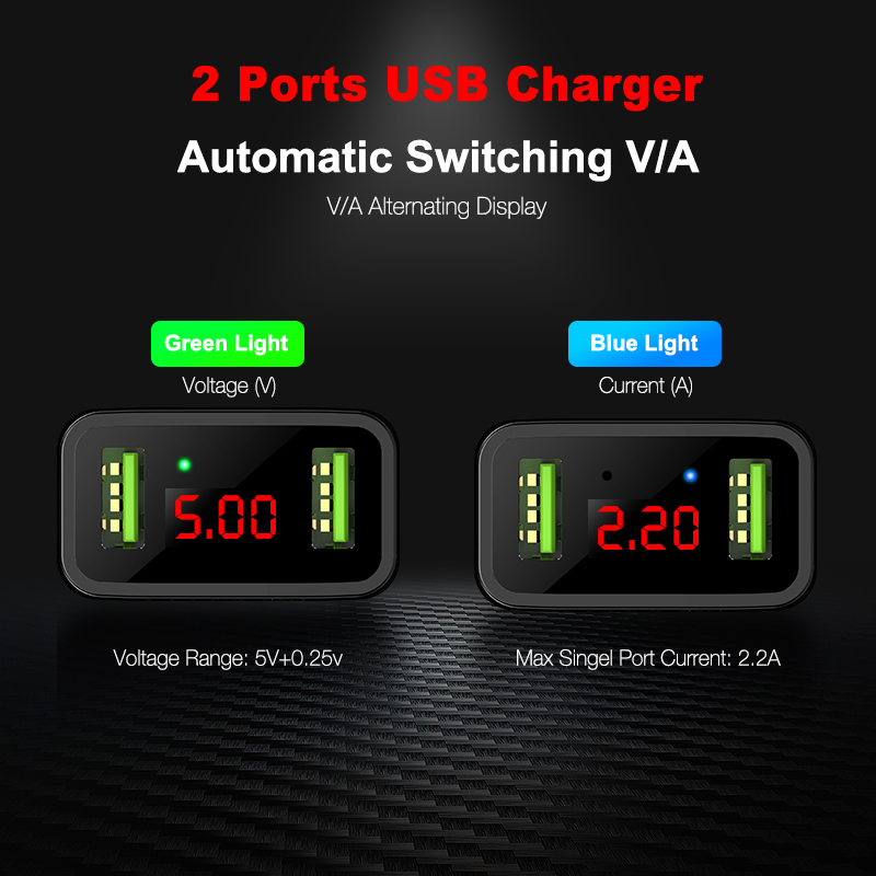 Image 4 - FLOVEME LED Digital 3 Ports USB Charger Universal EU Plug Wall Mobile Phone Charger For iPhone X 8 7 For Samsung S8 S9 Adapter-in Mobile Phone Chargers from Cellphones & Telecommunications