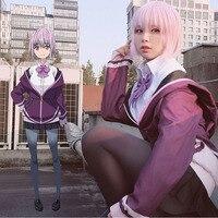 SSSS.GRIDMAN Akane Shinjo Short Bobo Straight Purple Ombre Grey Synthetic Hair Cosplay Wig + Wig Cap