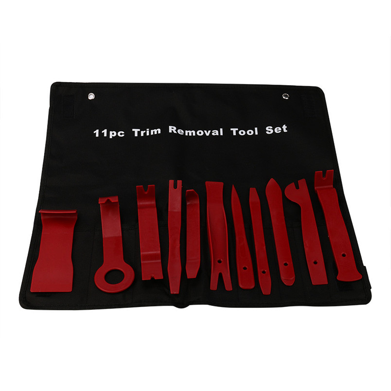 4 x Panel Dashboard Tool Kit Door Panel Interior Wedge Pry Clip HD Nylon Removal