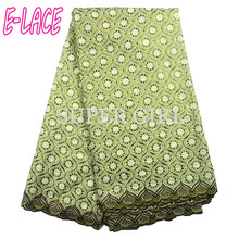 High Quality African Lace Fabric With Stones And Beads