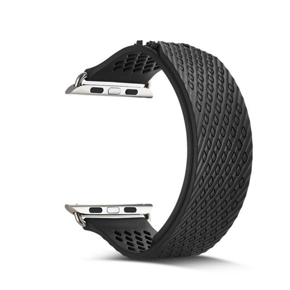 Silicone Sport Band For Apple Watch 4 40mm 44mm iwatch series 3 2 1 42mm 38mm Woven Rubbers Strap Wrist Bracelet AccessoriesSilicone Sport Band For Apple Watch 4 40mm 44mm iwatch series 3 2 1 42mm 38mm Woven Rubbers Strap Wrist Bracelet Accessories