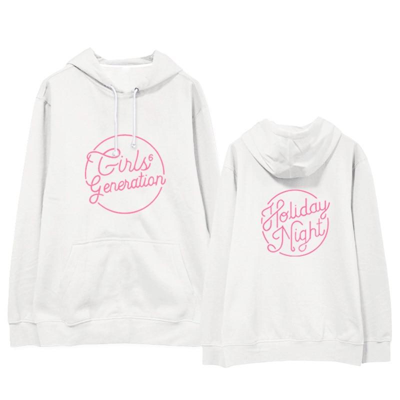 Kpop Girls Generation Yoona same loose printing hoodies Korea men women autumn winter hooded sweatshirts Casual Harajuku tops
