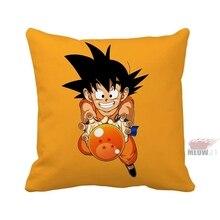 Anime Dragon Ball Super Saiyan Goku Multi Tamaño Throw Funda de almohada Envío Gratis
