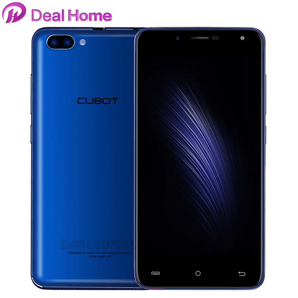 Case)gift!Cubot Rainbow 2 Dual Back Camera Mobile Phone MTK6580A Quad Core 5.5 Inch HD Smartphone Android 7.0 1G+16G Cell PhoneCase)gift!Cubot Rainbow 2 Dual Back Camera Mobile Phone MTK6580A Quad Core 5.5 Inch HD Smartphone Android 7.0 1G+16G Cell Phone