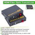 Conversor De Fibra Óptica HDMI com IR Extensor HDMI de Vídeo e Transmissão De Áudio através De Fibra Óptica (fibra monomodo único SC)