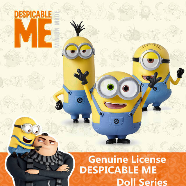 Marvelous DESPICABLE ME MINION Legal Copy Classic Bob/Stuart/Kevin Decoration Toys  Gift Animiation Dolls