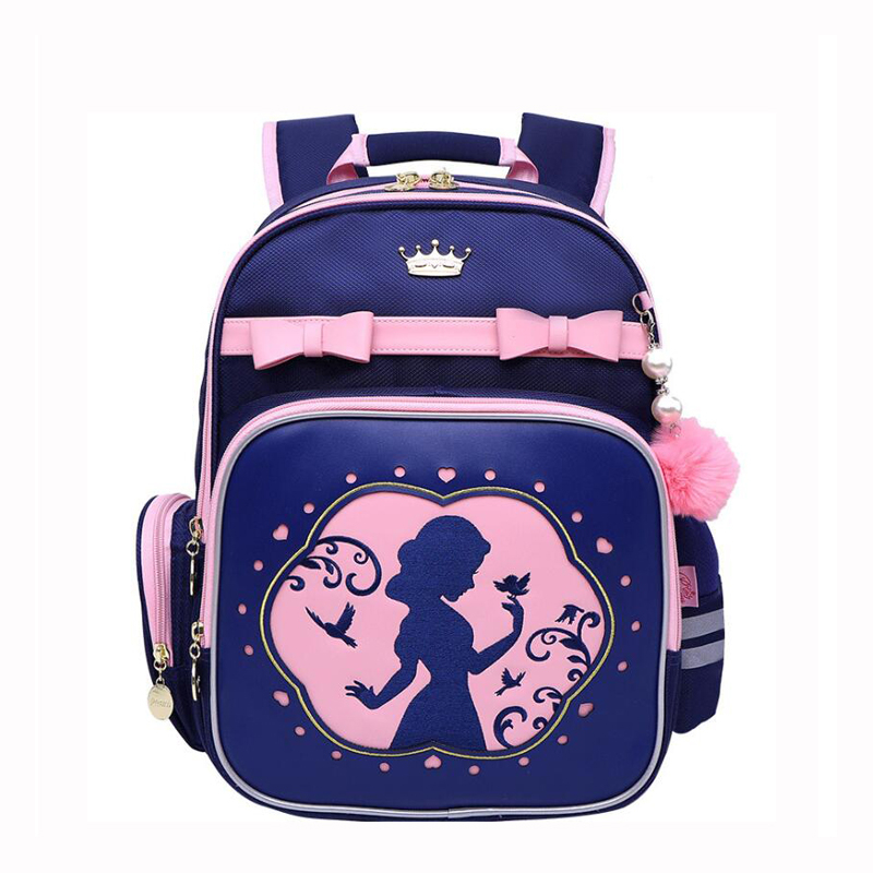 2019 Princess school bag for girls pink bow Orthopedic backpack Children School Backpack Primary School Bag 1-5 Grade kids bag2019 Princess school bag for girls pink bow Orthopedic backpack Children School Backpack Primary School Bag 1-5 Grade kids bag