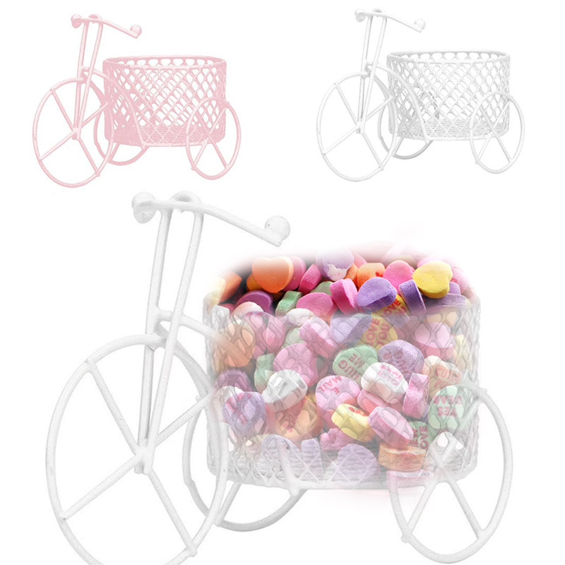 Tricycle Shape Candy Cart Kids Gift Snacks Exquisite Candy Tray Ornament Storage Boxes Candy Rack Tiny Wedding Decoration
